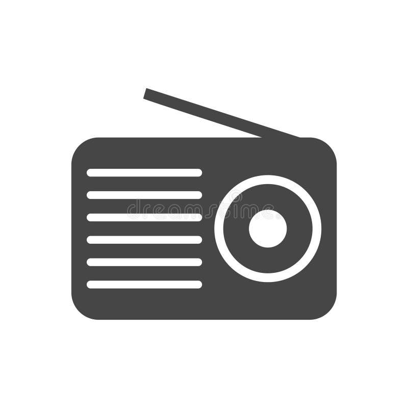 无线电象平的图形设计-传染媒介例证贴纸 向量例证