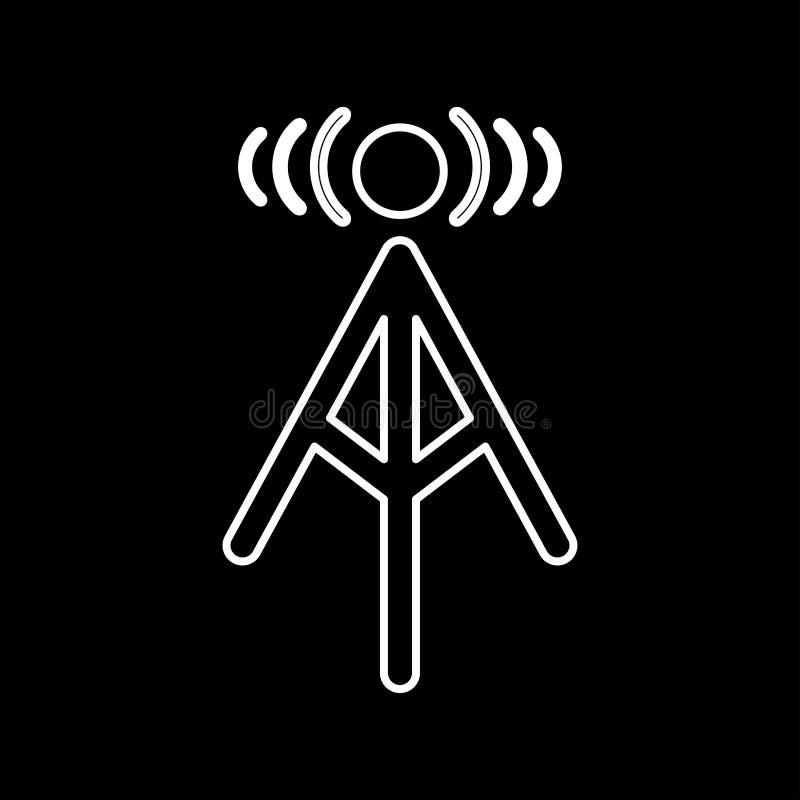 无线电铁塔它是象 皇族释放例证