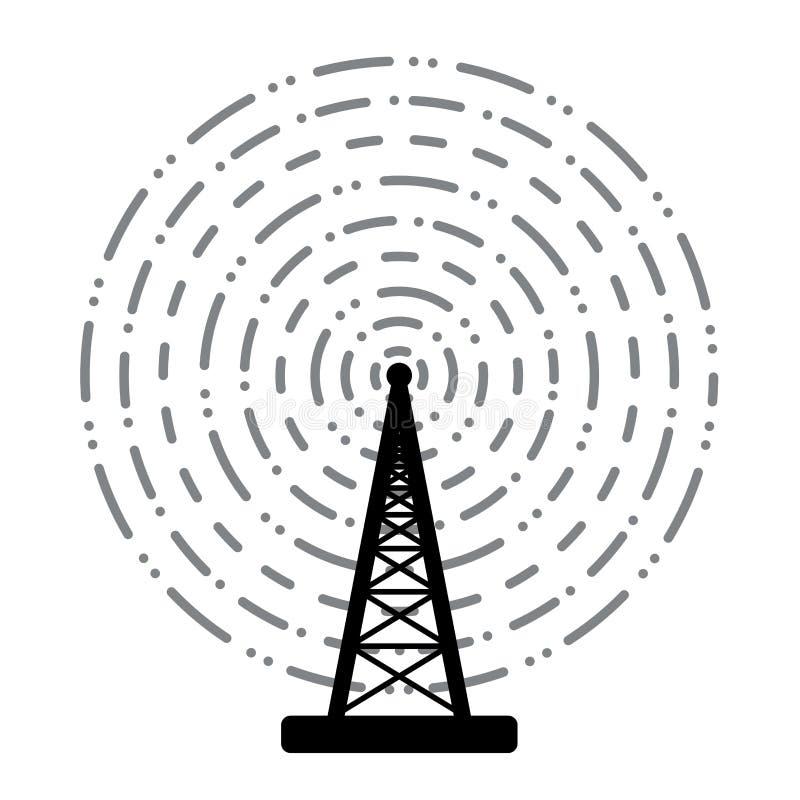 无线电铁塔广播 向量例证