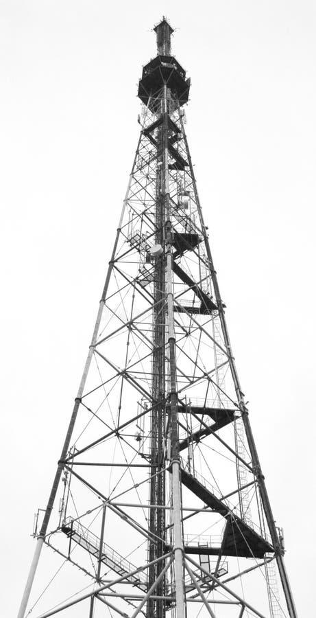无线电铁塔电视 库存图片