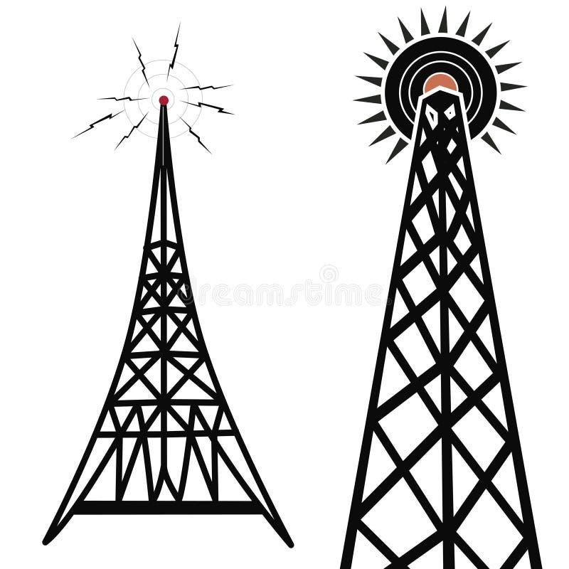 无线电铁塔 向量例证