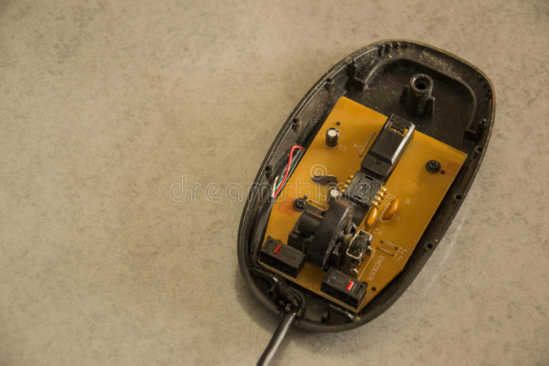 无线计算机老鼠折除 图库摄影