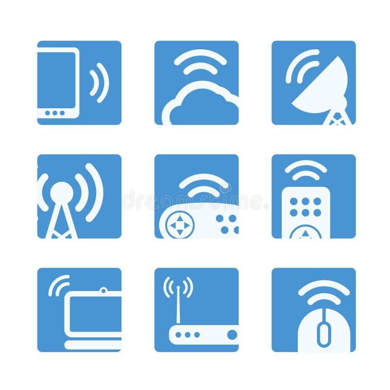 无线设备按钮 向量例证