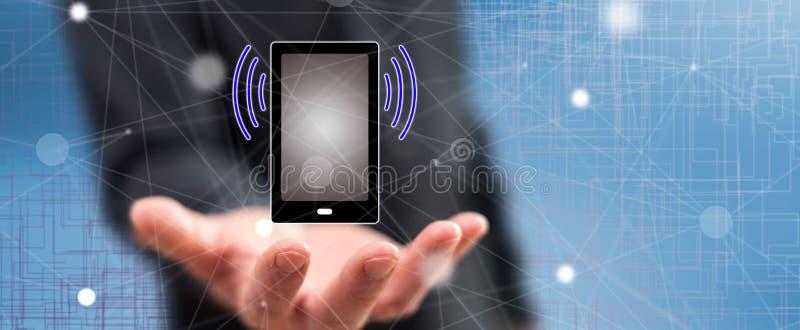 无线连接的概念 免版税图库摄影