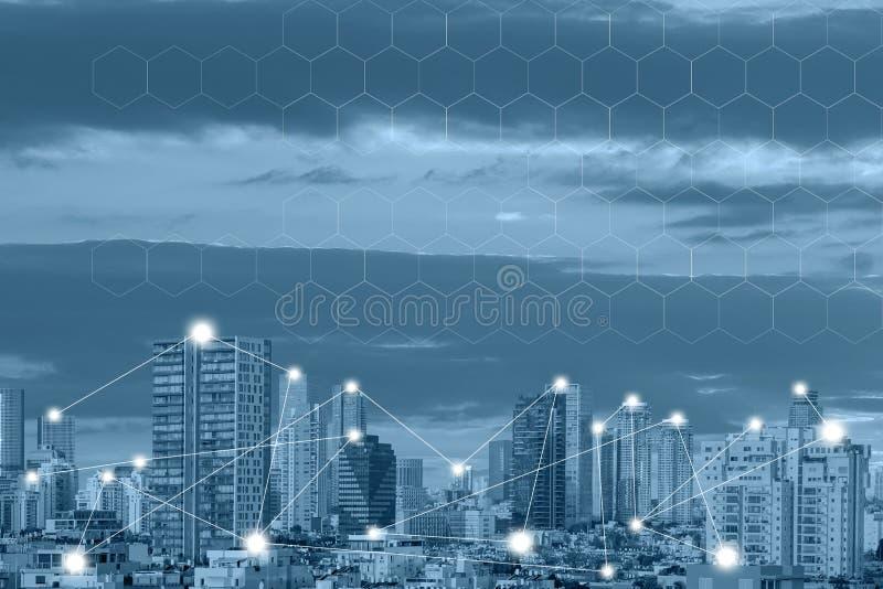 无线通讯网络概念 连接全球性无线电设备 免版税图库摄影