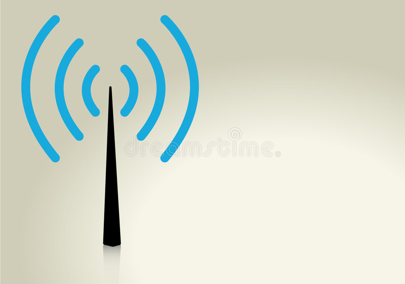 无线 向量例证