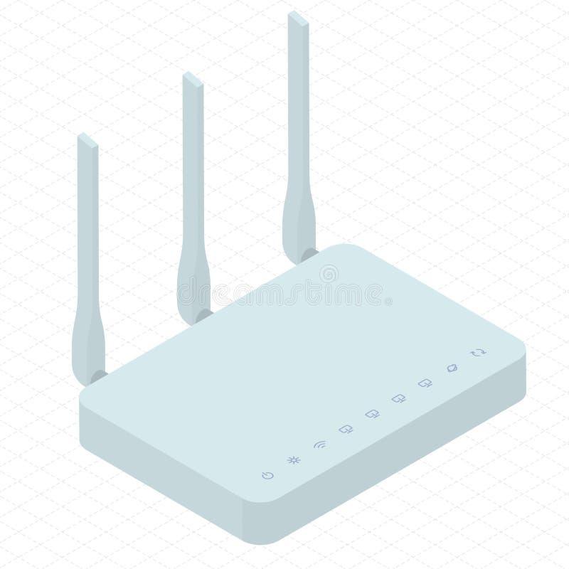 无线Wi-Fi路由器 向量例证