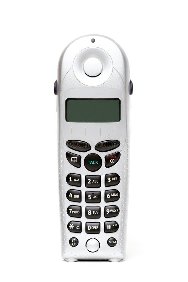 无绳的超出电话白色 库存图片