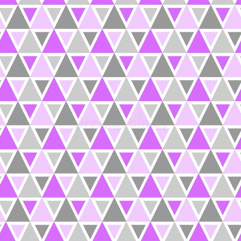 无缝三角几何的样式 库存例证