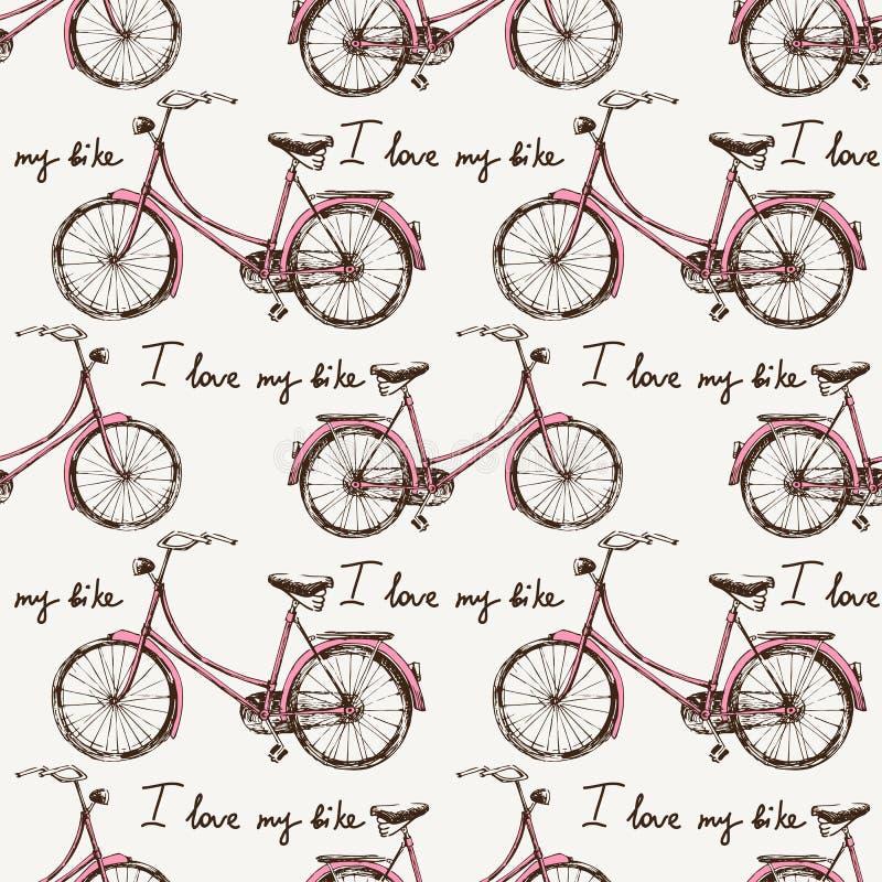 无缝与手拉的自行车 皇族释放例证