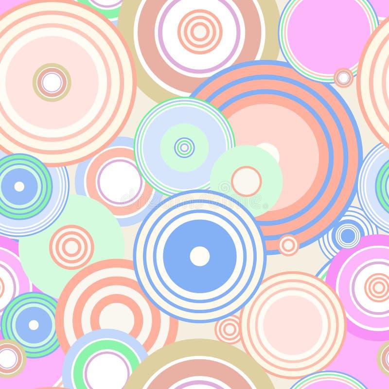 无缝五颜六色的圈子 免版税库存照片