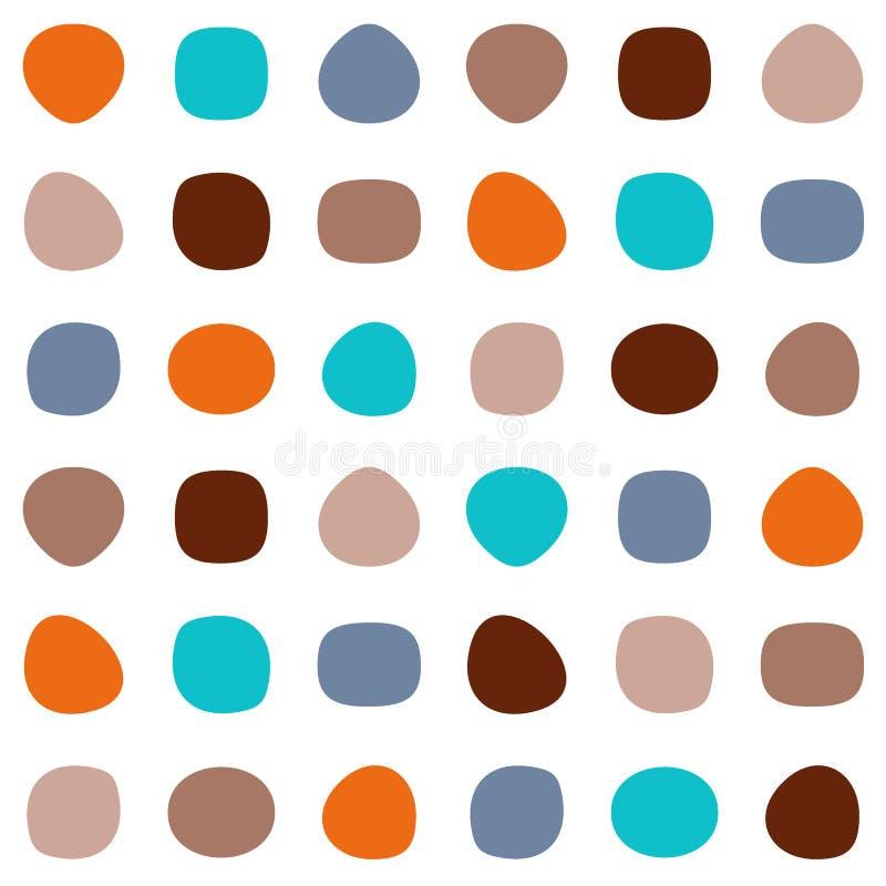 无缝五颜六色的模式 库存例证