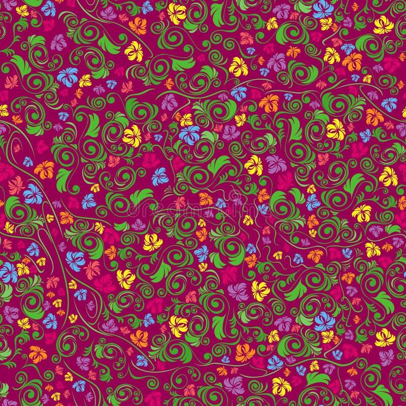 无缝五颜六色的花卉的模式 向量例证