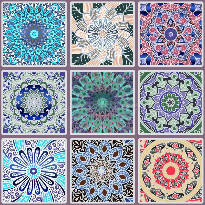 无缝五颜六色的花卉的模式 皇族释放例证