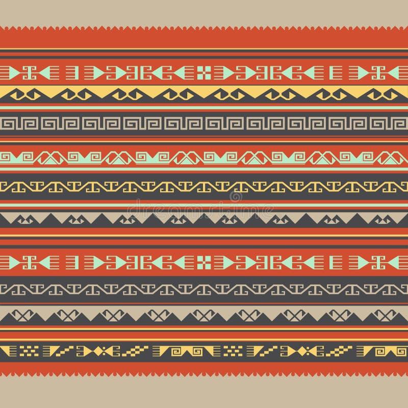 无缝亚洲的装饰品 向量例证