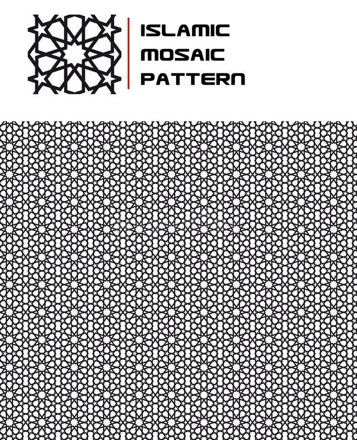 无缝伊斯兰马赛克的模式 库存例证