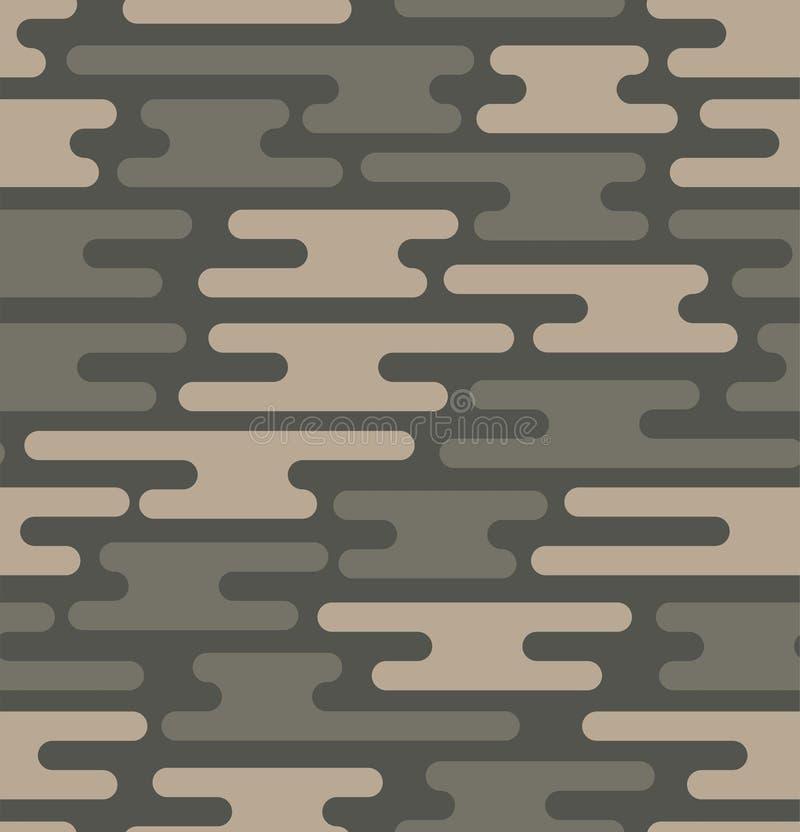 无缝伪装的模式 传染媒介几何camo纹理 库存例证