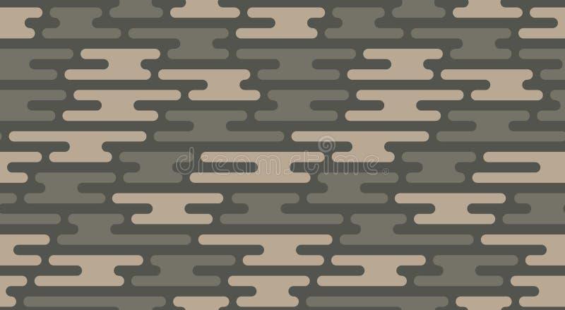 无缝伪装的模式 传染媒介几何camo纹理 向量例证