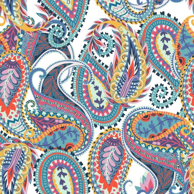 无缝佩兹利的模式 织品的,印刷品,包装纸,卡片,邀请,墙纸东方设计 库存例证