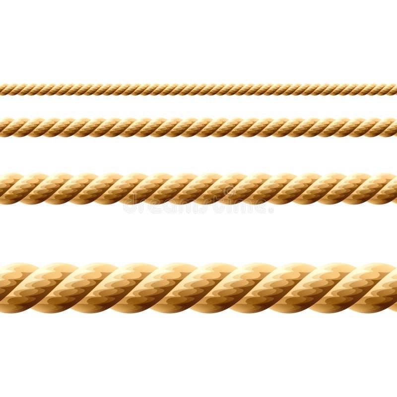 无缝例证的绳索 向量例证