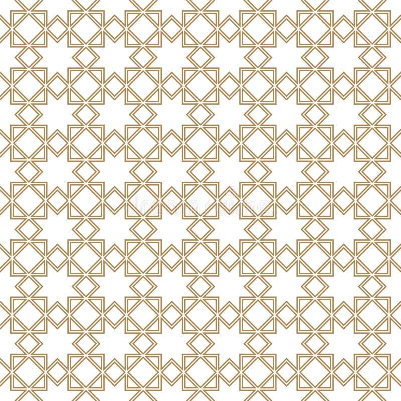 无缝几何图案 伊斯兰模式 阿拉伯语,印度装饰品 双线 库存例证