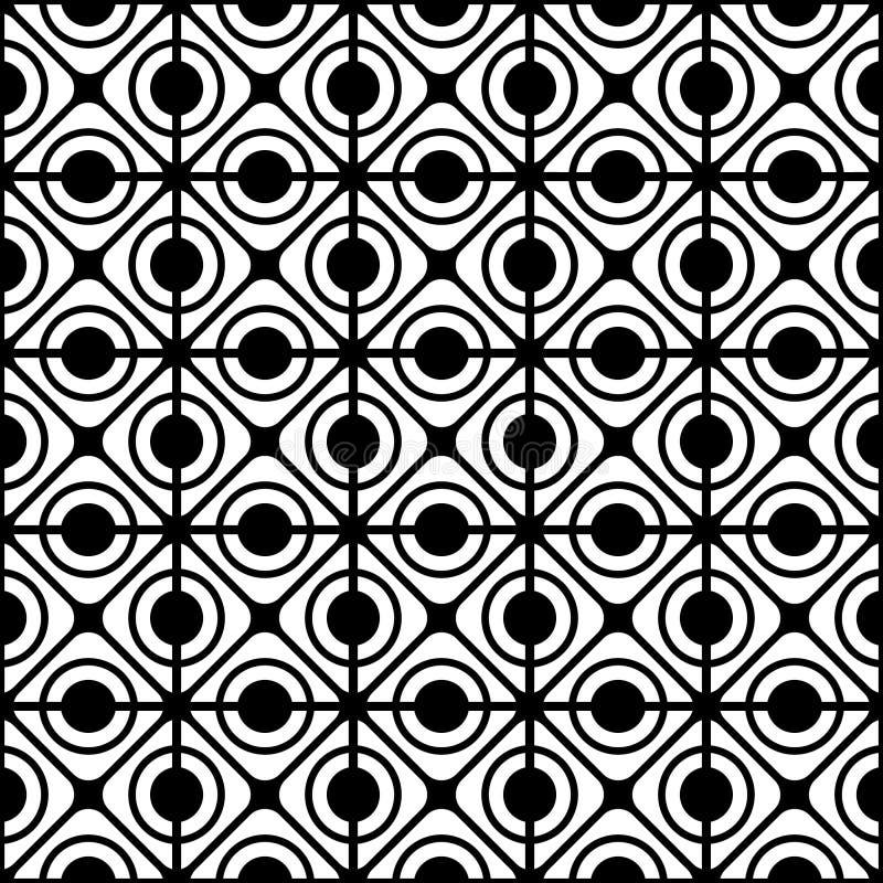 无缝几何格子的模式 库存例证
