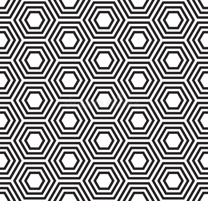 无缝几何的模式 乌龟壳样式 库存例证