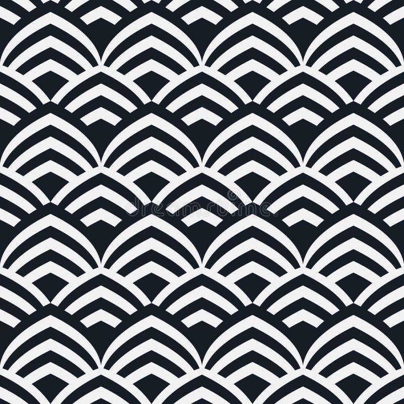 无缝几何的模式 几何简单的印刷品 重复纹理的传染媒介 库存例证