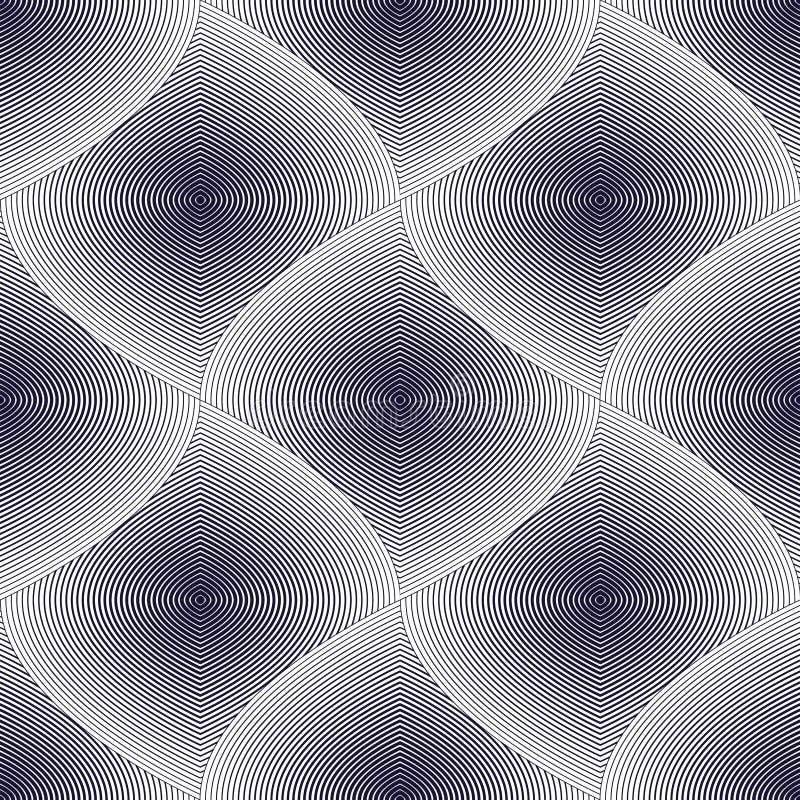 无缝几何的模式 几何简单的时尚织品prin 皇族释放例证