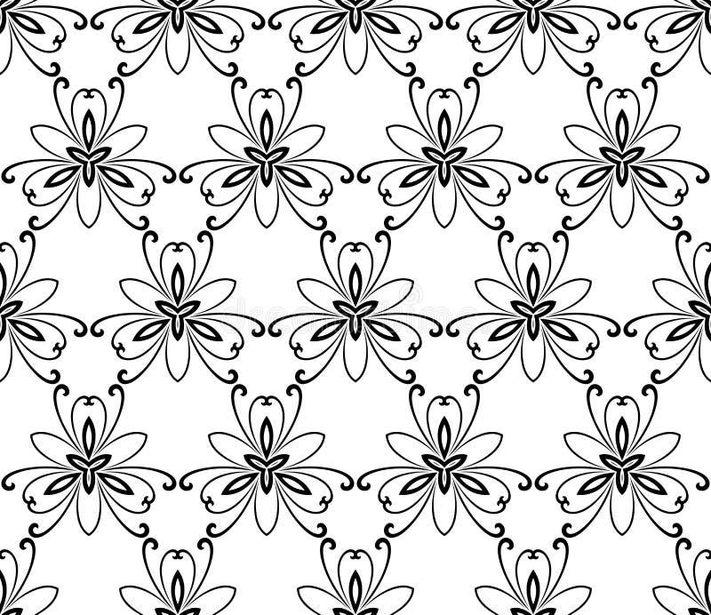 无缝几何的模式 抽象背景 库存例证