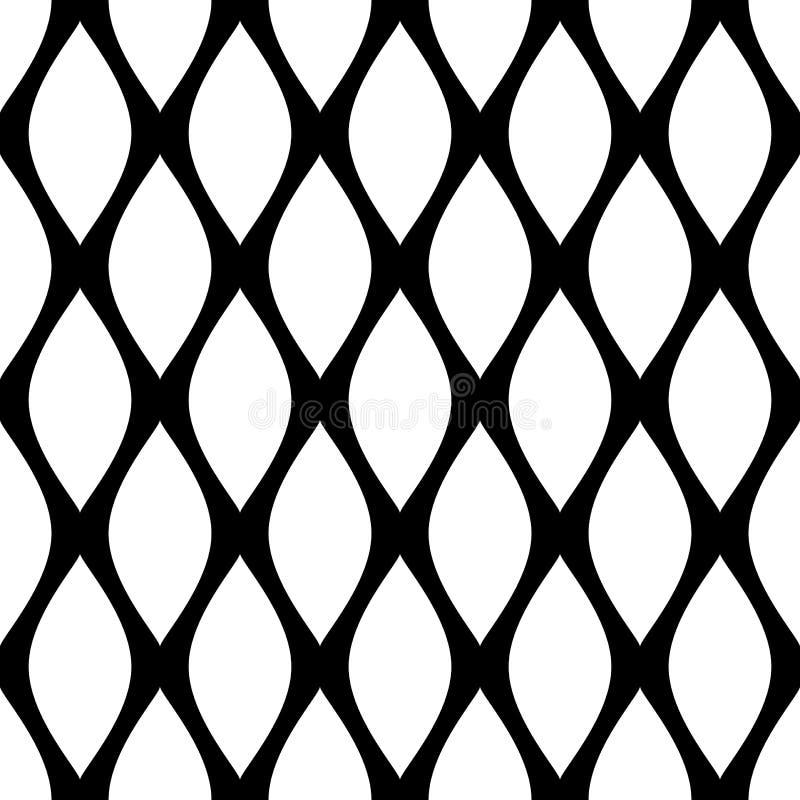 无缝几何的模式 摘要被装饰的纹理 皇族释放例证
