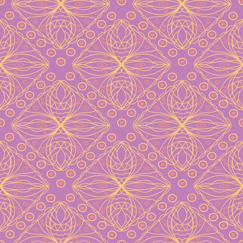 无缝几何的模式 明亮的色的紫罗兰色背景 向量例证