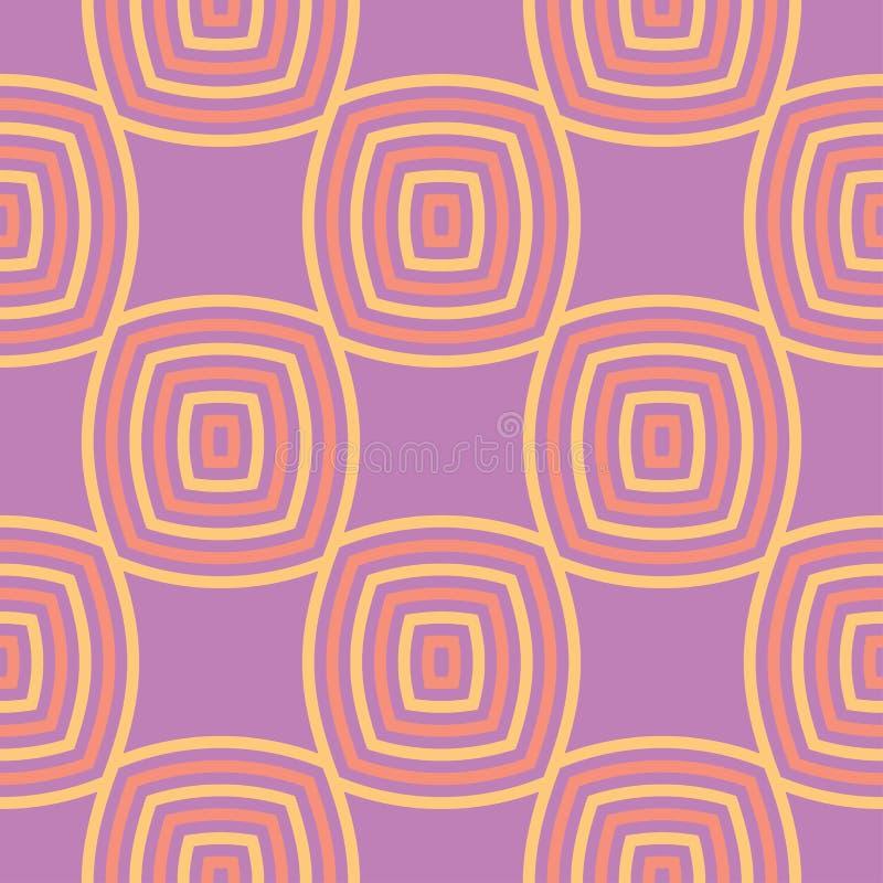 无缝几何的模式 明亮的色的紫罗兰色背景 皇族释放例证