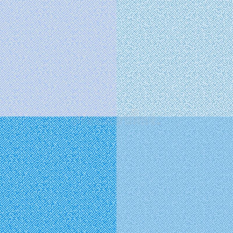 无缝几何的模式 迷宫 迷宫 向量例证