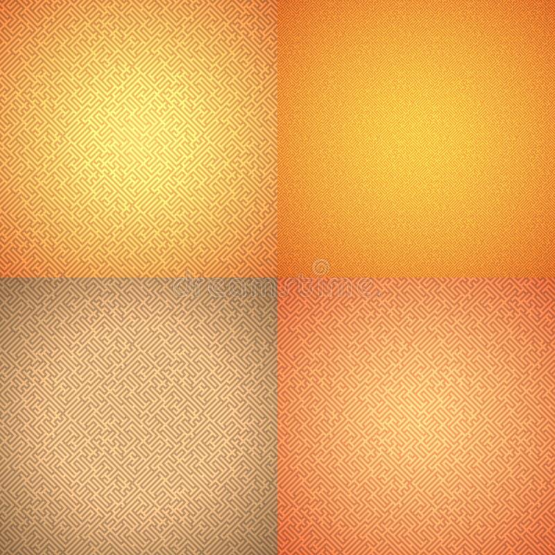 无缝几何的模式 迷宫 迷宫 皇族释放例证