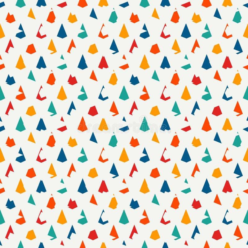 无缝几何的模式 重复的微型三角 难看的东西标度或扇贝纹理 风筝形状 破旧的数字式纸 皇族释放例证