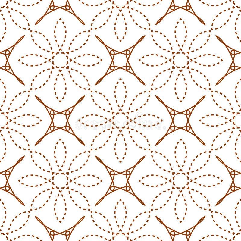 无缝四个角度星和破折线花 皇族释放例证