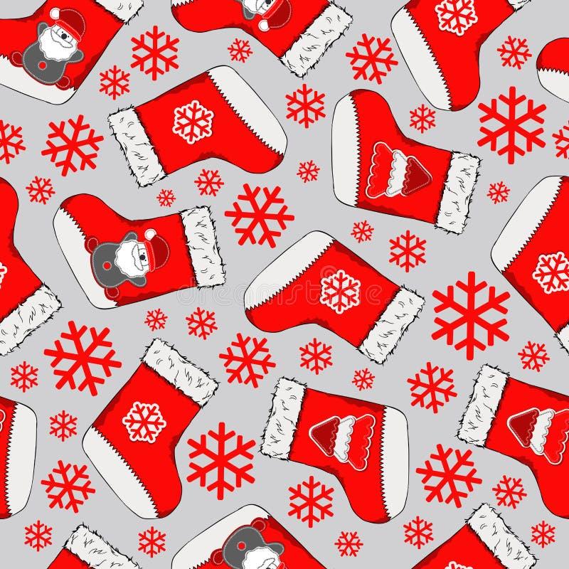 无缝圣诞节的模式 圣诞快乐设计 它可以为墙纸,网页和其他使用 也corel凹道例证向量 向量例证