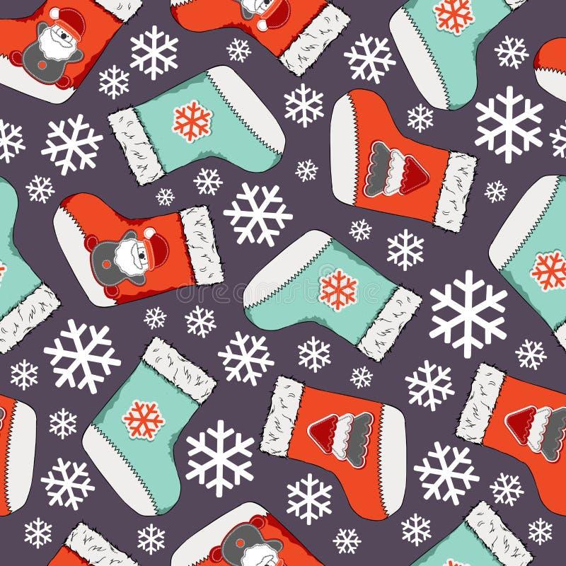 无缝圣诞节的模式 圣诞快乐设计 它可以为墙纸,网页和其他使用 也corel凹道例证向量 皇族释放例证