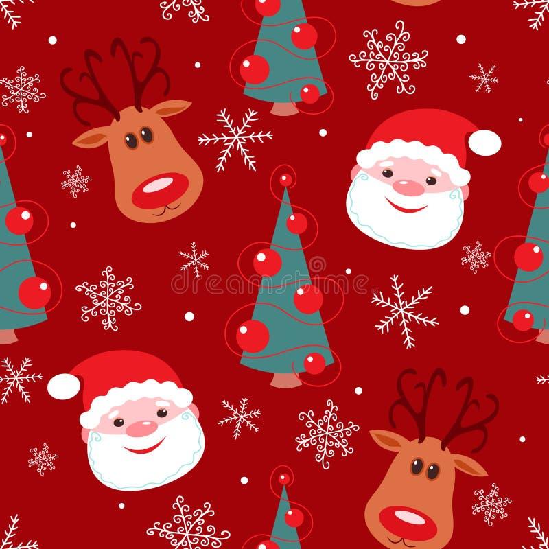 无缝圣诞节的模式 图库摄影
