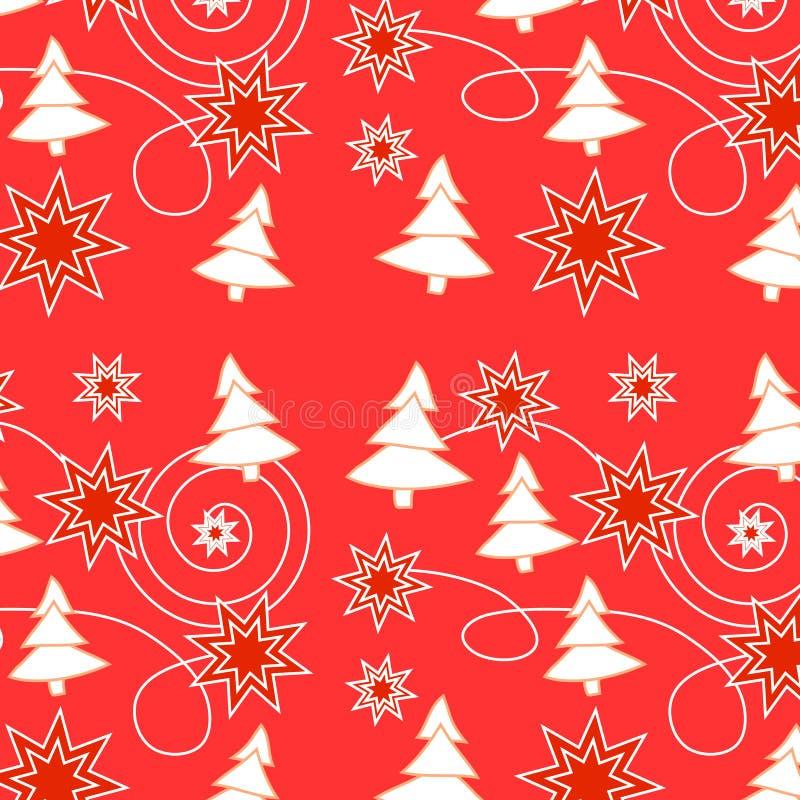 无缝圣诞节的模式 向量例证
