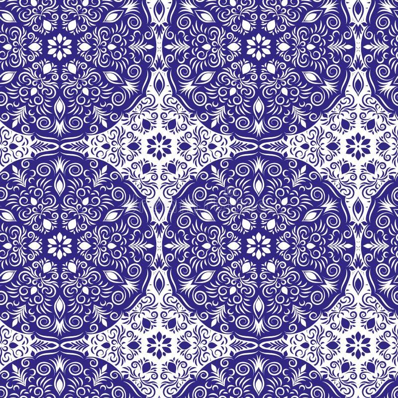 无缝坛场的模式 装饰要素葡萄酒 凹道现有量纸张水彩 向量例证