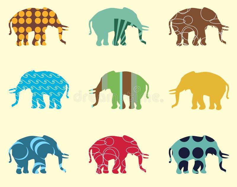 无缝大象的模式 皇族释放例证