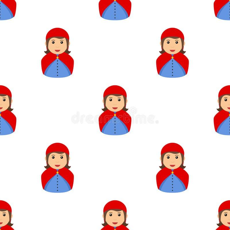无缝小红骑兜帽的具体化 库存例证