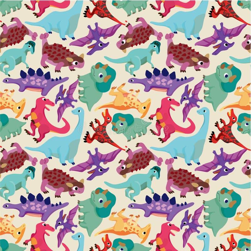 无缝恐龙的模式 向量例证