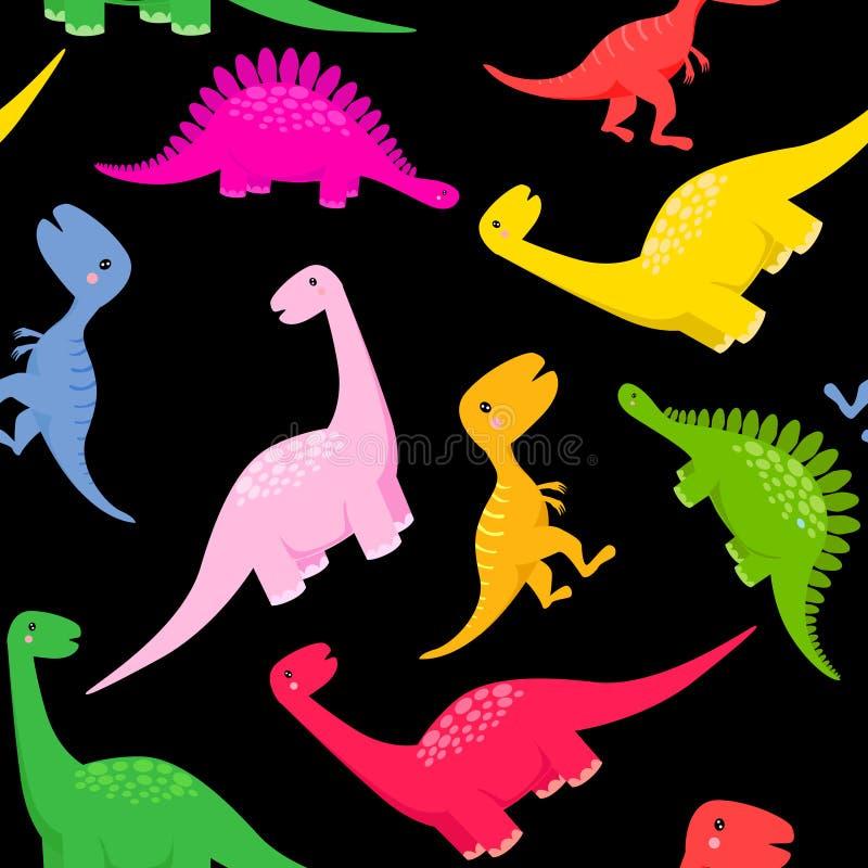 无缝恐龙的模式 皇族释放例证