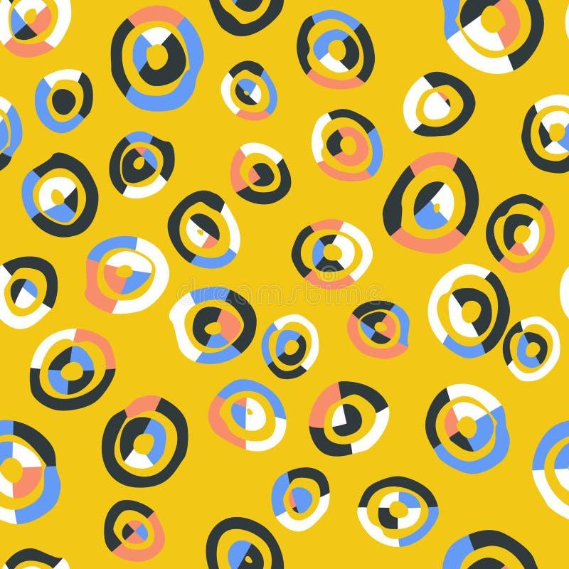 无缝抽象五颜六色的模式 皇族释放例证