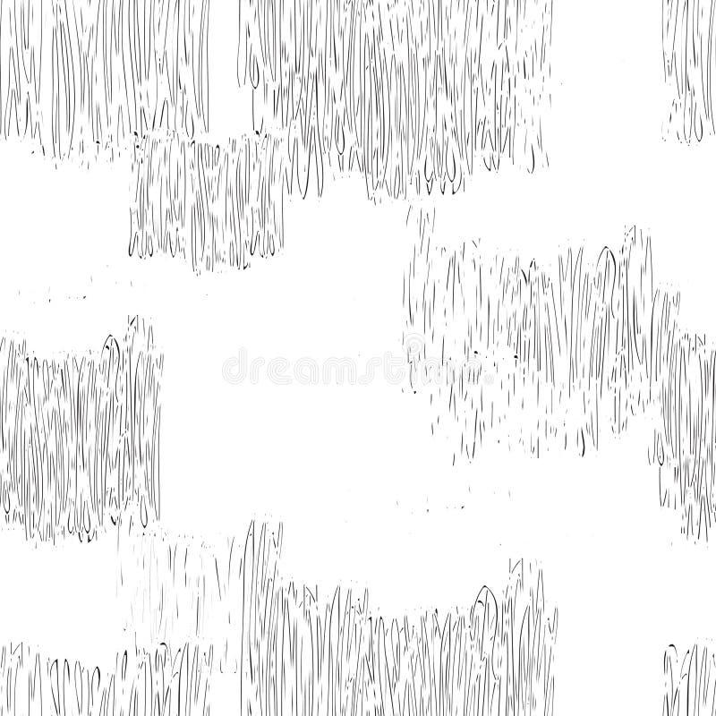 无缝抽象几何的模式 单色铅笔图l 向量例证