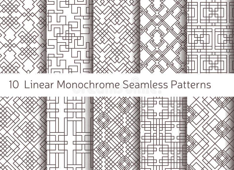 无缝抽象几何的模式 线性主题背景 皇族释放例证