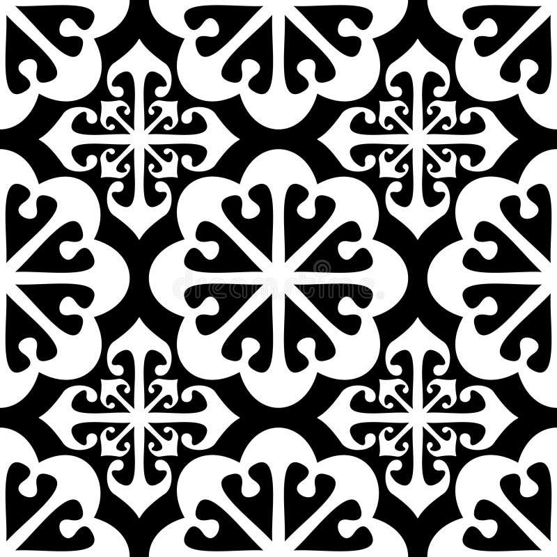 无缝抽象模式的重复 皇族释放例证